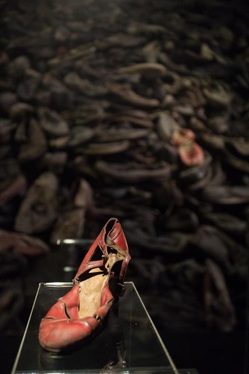 Zapato de prisionero en Auschwitz