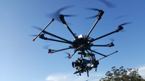 El emprendedor Jesús Velasco se ha especializado en drones para el matenimiento de aerogeneradores.