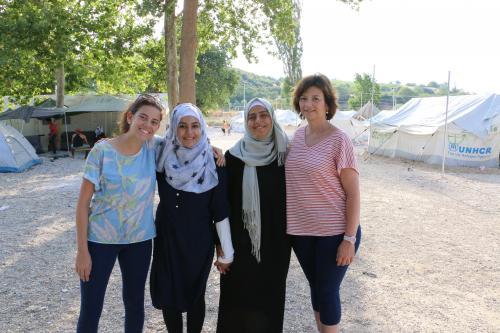 De derecha a izquierda, Mirta, Zohur, Hala y Julieta.
