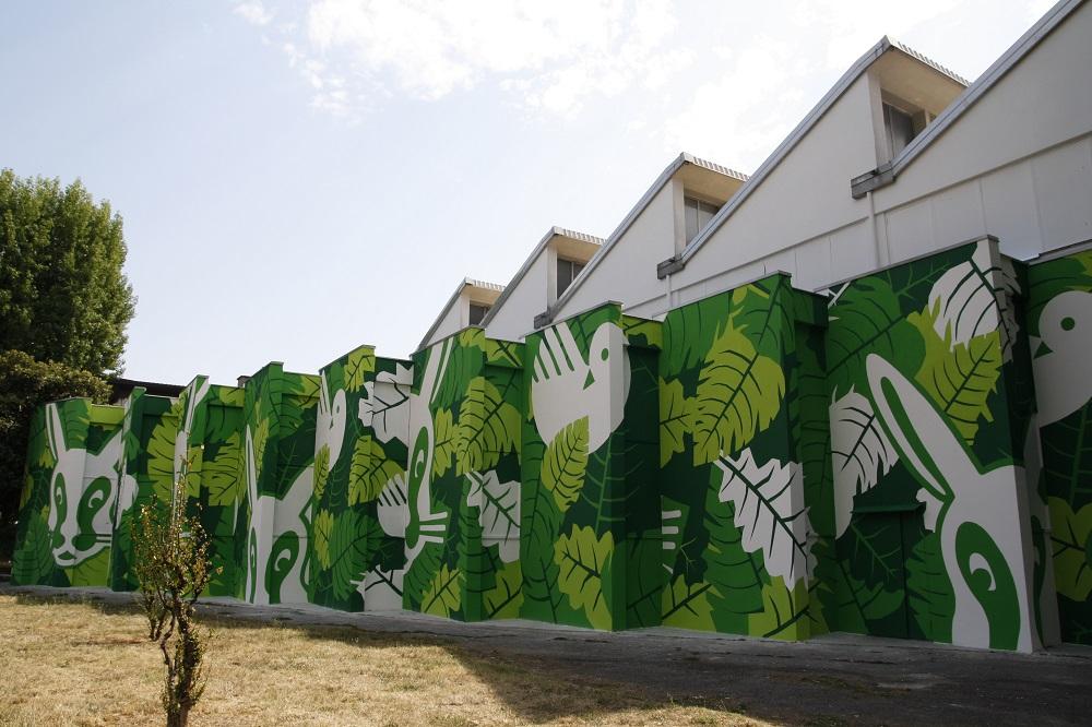 Mural pintado con Airlite.