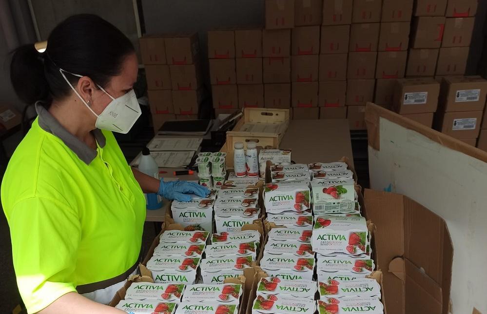 Donación de yogures de Danone.