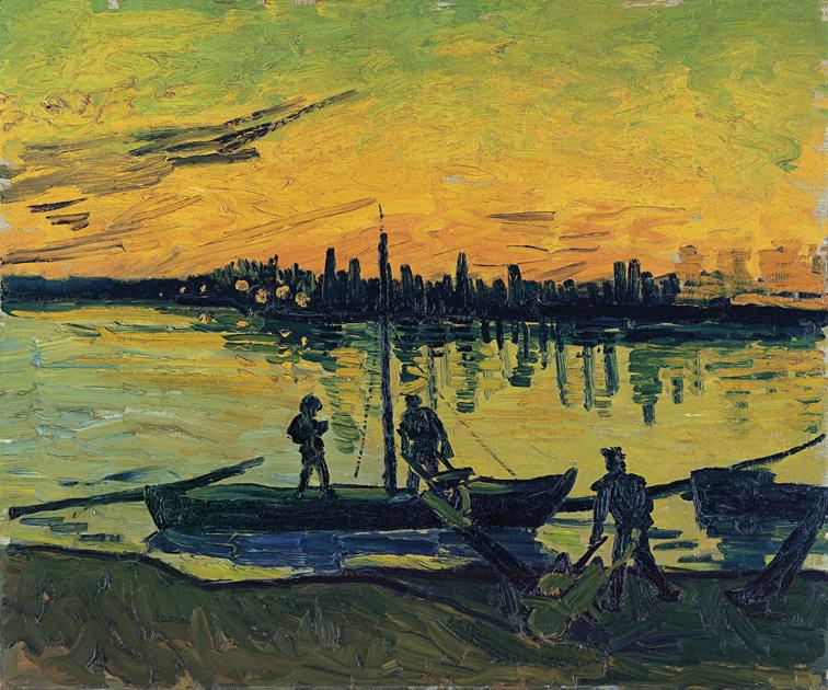 Una de las imágenes del itinerario, 'Los descargadores en Arles', de Vincent van Gogh.