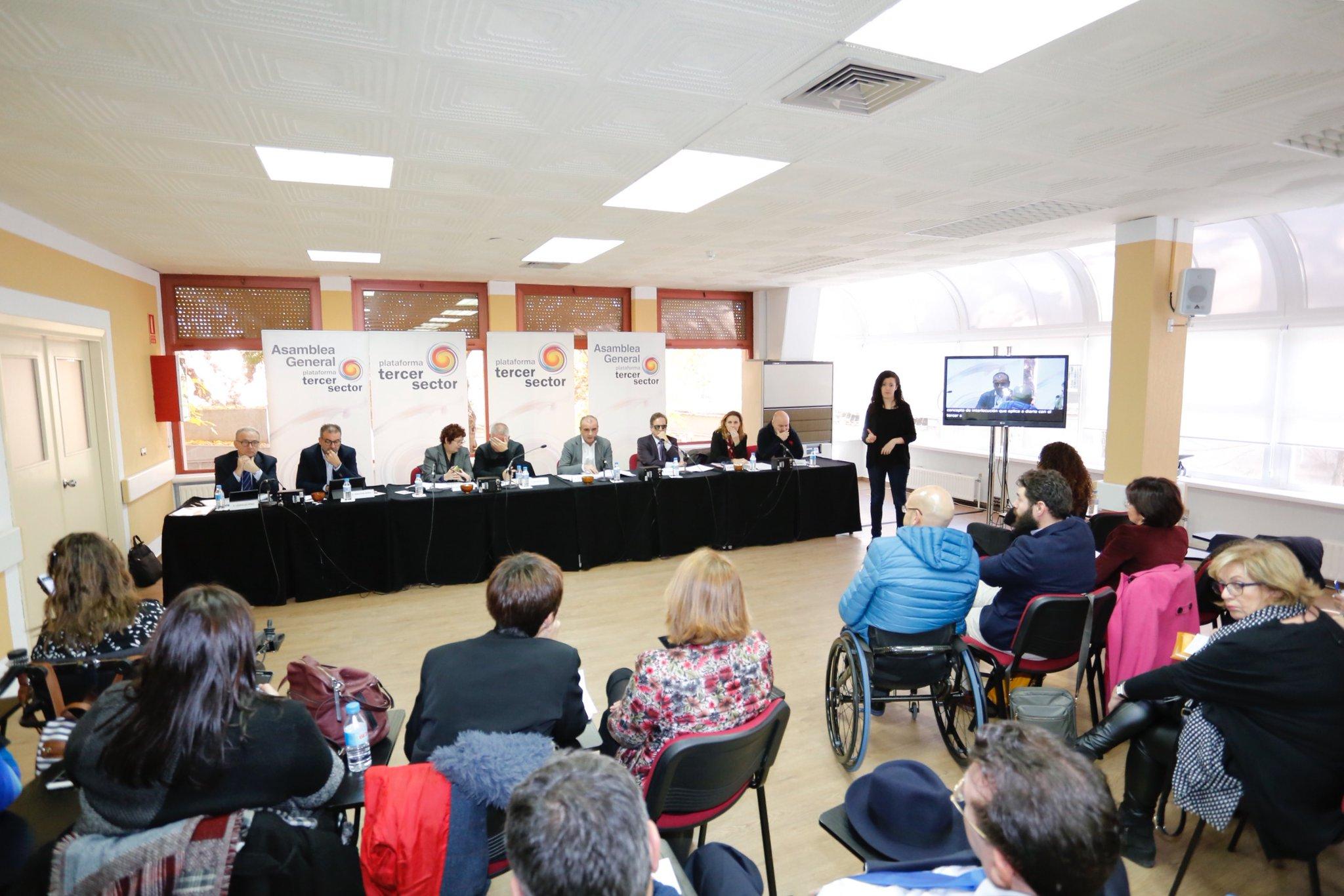 Asamblea General de la Plataforma del Tercer Sector.