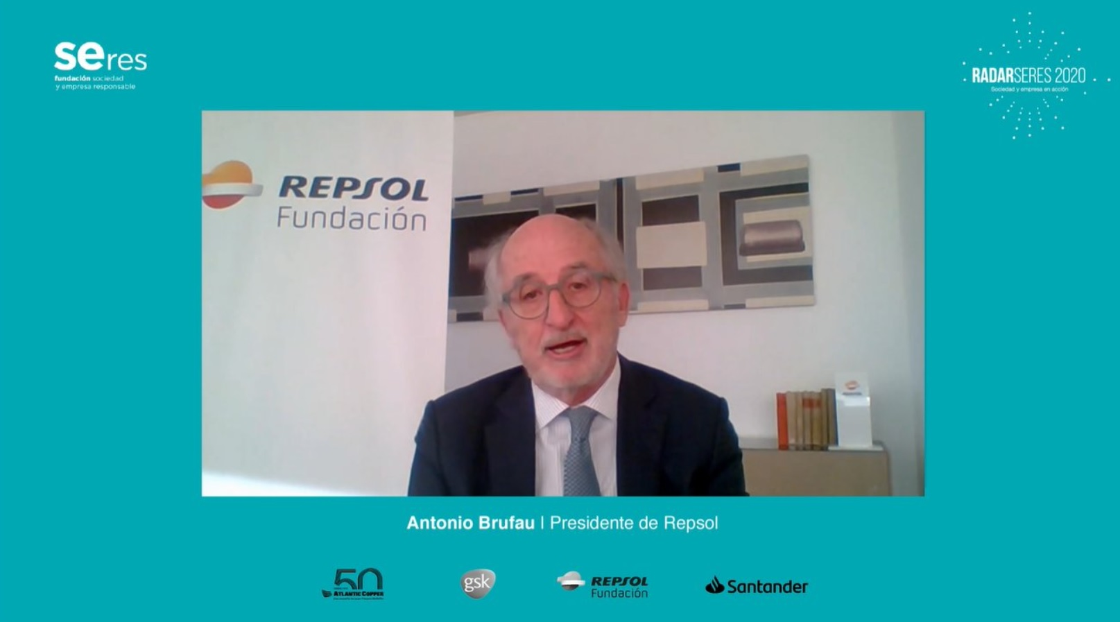 Antonio Brufau, presidente de Repsol, interviene en RADARSERES.