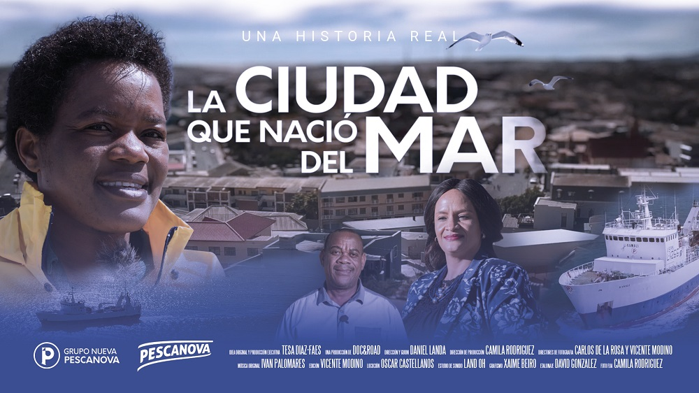Cartel del documental 'La ciudad que nació del mar'.