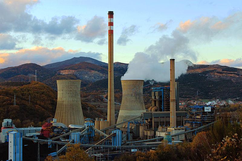 Central térmica de carbón de La Robla (León).