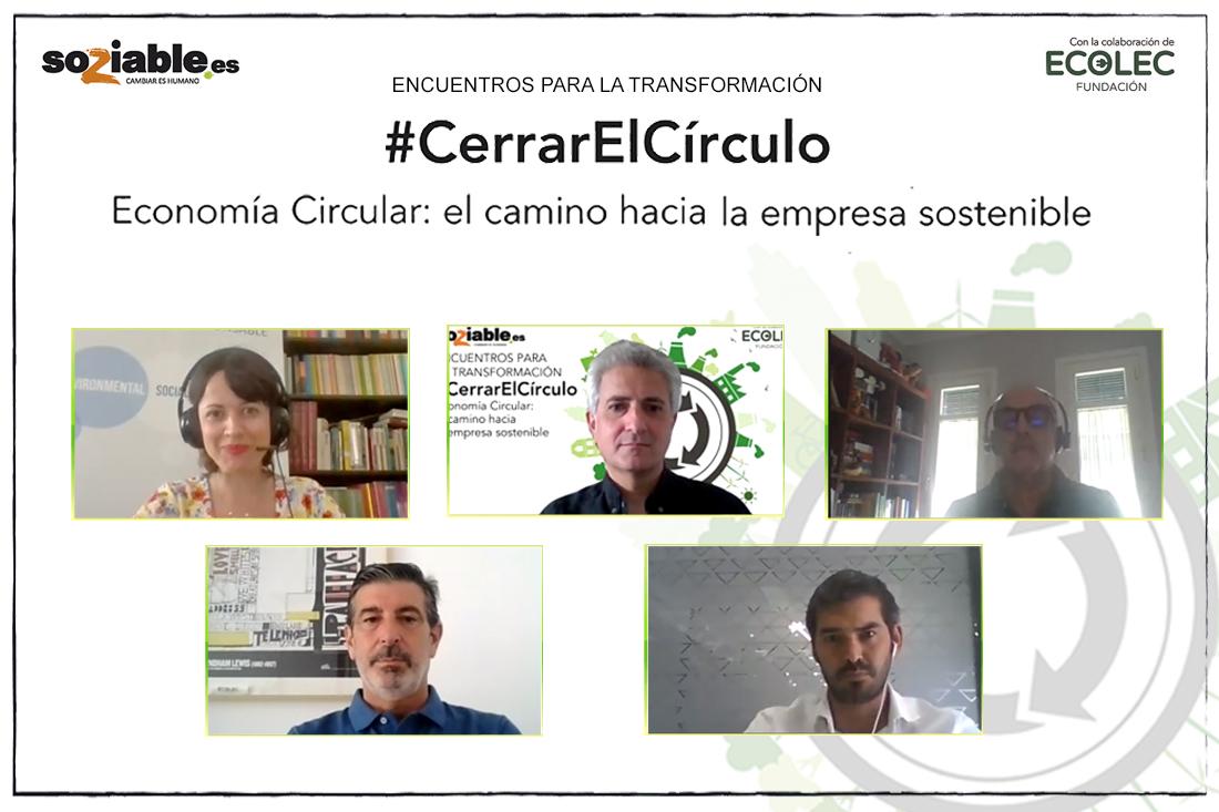 Imagen de los participantes en el evento #CerrarElCírculo, Economía Circular