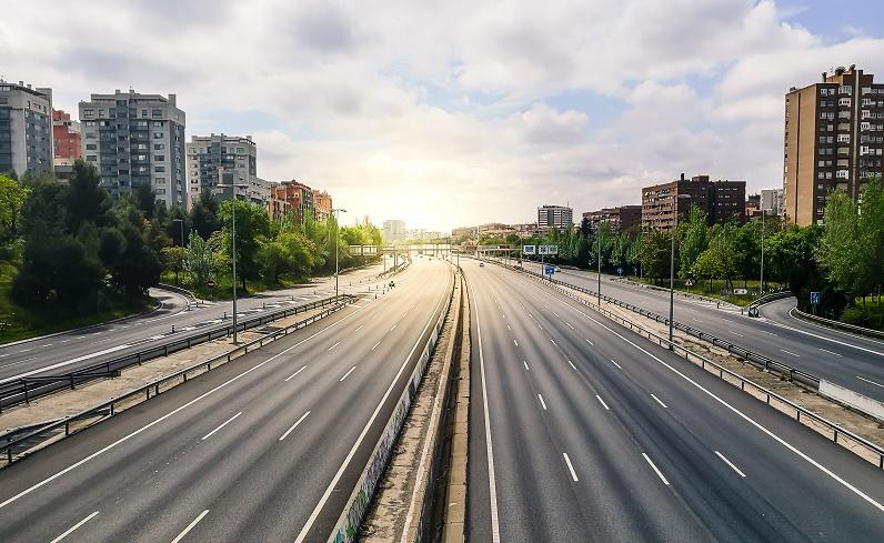 Imagen de un Madrid sin contaminación durante el confinamiento de 2020.
