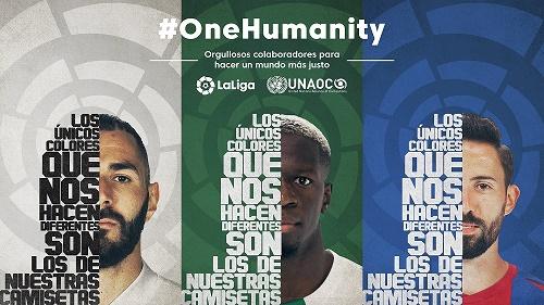Creatividad de la campaña 'One Humanity'.