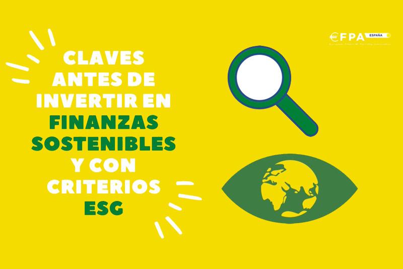 Documento 'Claves antes de invertir en finanzas sostenibles y con criterios ESG'