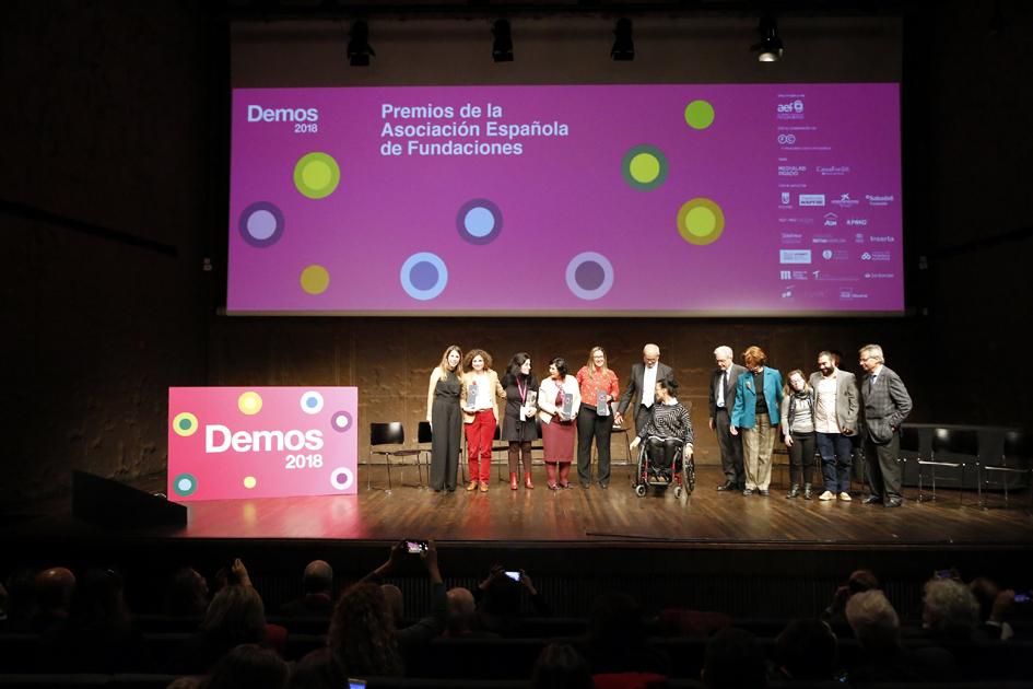 Imagen de los premiados en el Foro Demos 2018.