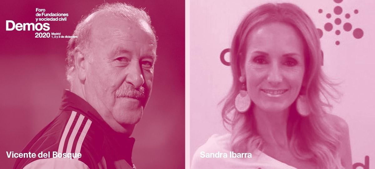 Vicente del Bosque y Sandra Ibarra.