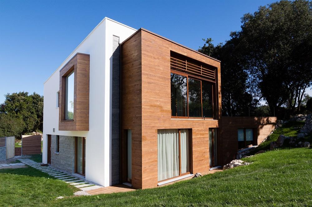 Una casa construida con el estándar Passivhaus.