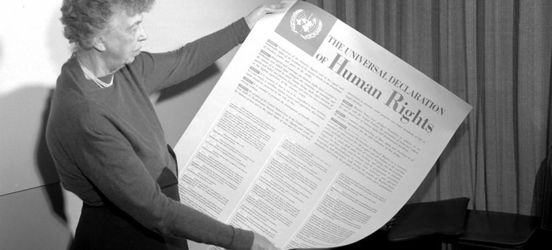 Eleanor Roosevelt participó en la elaboración de la Declaración de Derechos Humanos de la ONU de 1949.