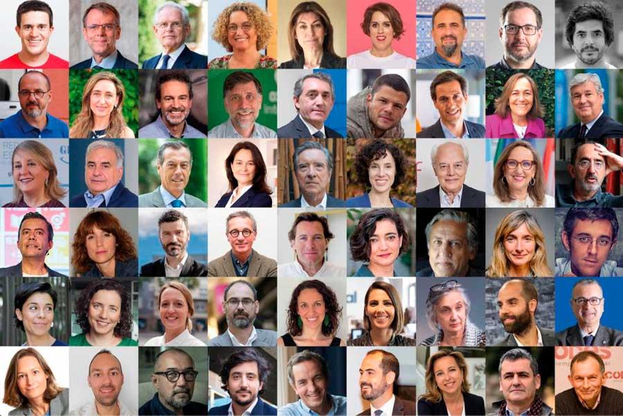 Profesionales y expertos reconocidos de distintos ámbitos y espectros ideológicos que han firmado el manifiesto