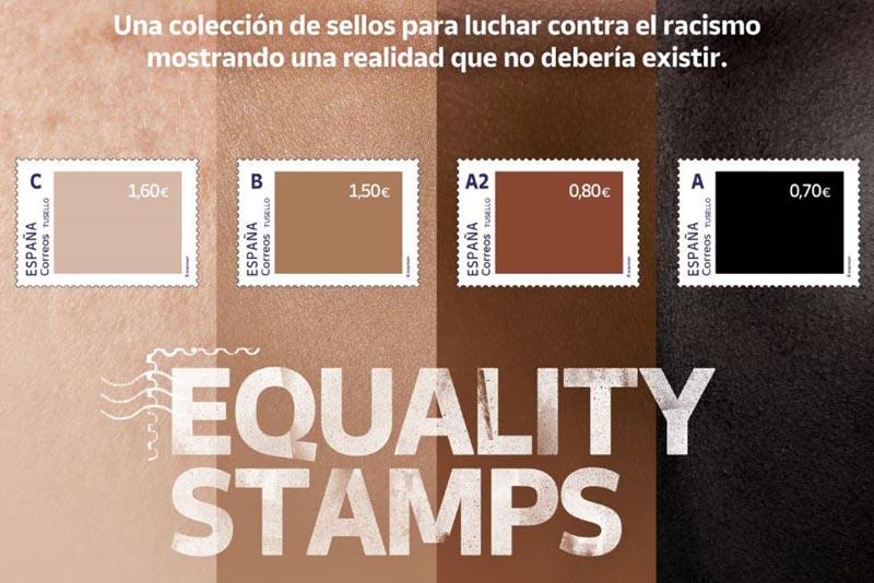 Unos sellos para concienciar sobre el racismo y la diversidad