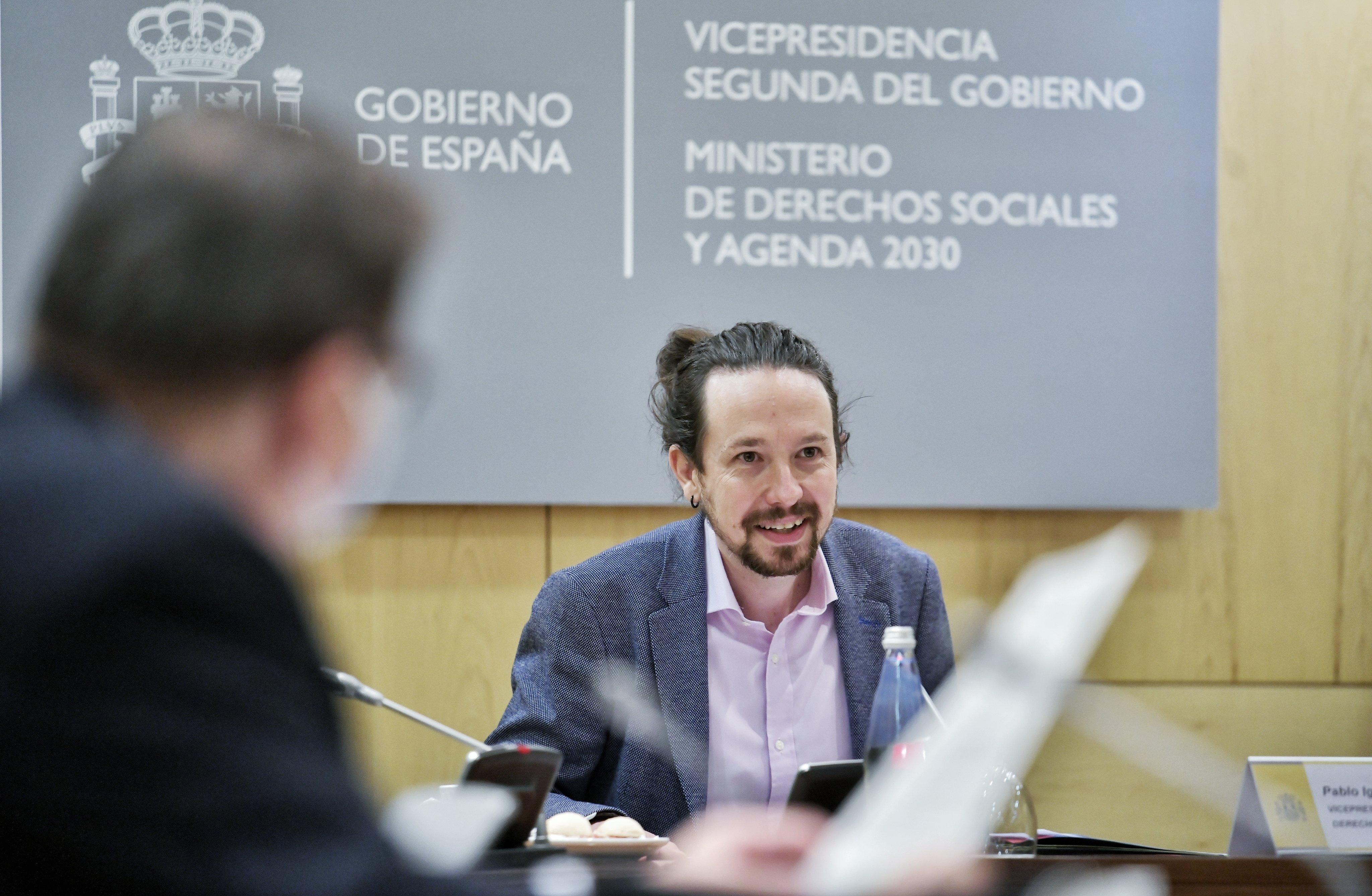 Pablo Iglesias en la Comisión Delegada para la Agenda 2030 (Foto: Vicepresidencia de Derechos Sociales).