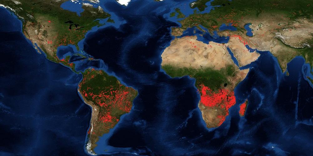Fotografía tomada por un satélite y difundida por NASA-FIRM