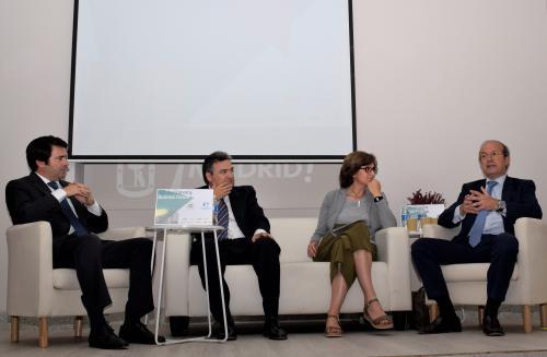 De izquierda a derecha: Rafael Hoyuela, Germán Granda, Paloma López-Izquierdo y Daniel Calleja