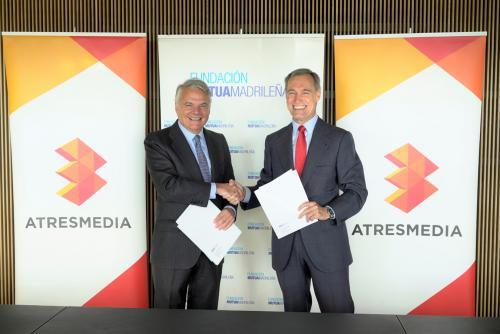 Ignacio Garralda, presidente de Fundación Mutua, y Silvio González, consejero delegado de Atresmedia.
