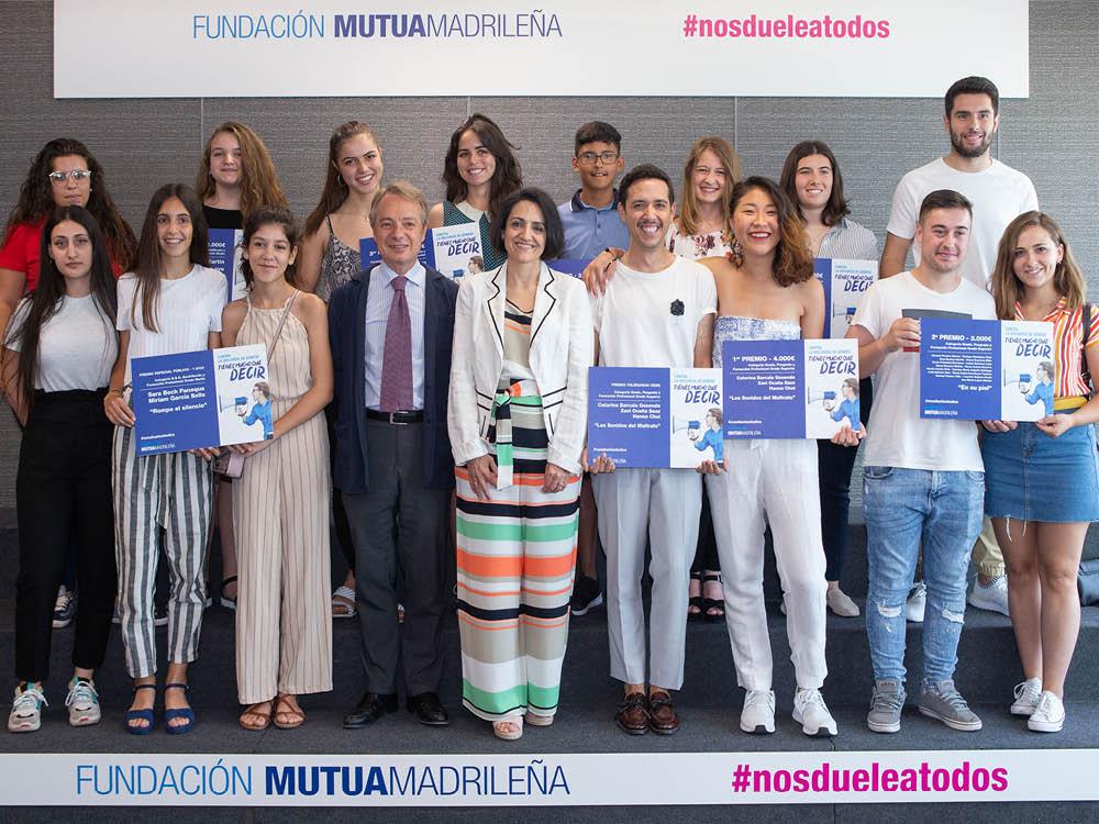 Ganadores de la quinta edición del premio 'Nos duele a todos' de Fundación Mutua Madrileña.