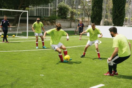 Entrenamiento de la selección nacional en las instalaciones del colegio Sagrado Corazón.