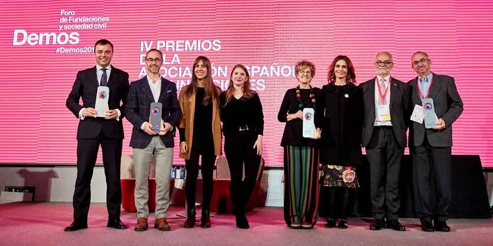 Galardonados con los Premios AEF en la edición de 2019.