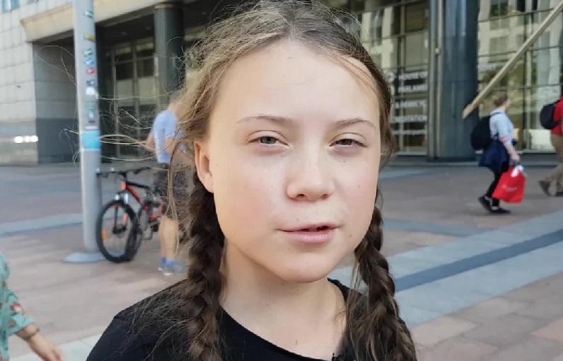 La adolescente Greta Thunberg.