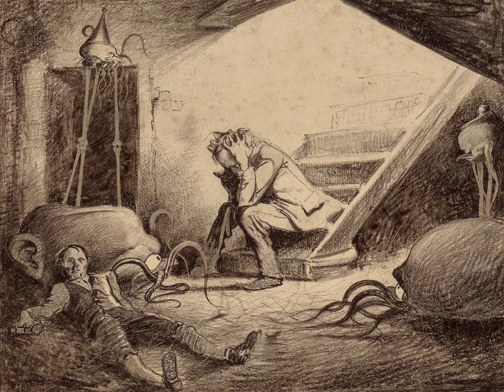 Ilustración de Henrique Alvim Corrêa para 'La guerra de los mundos'.