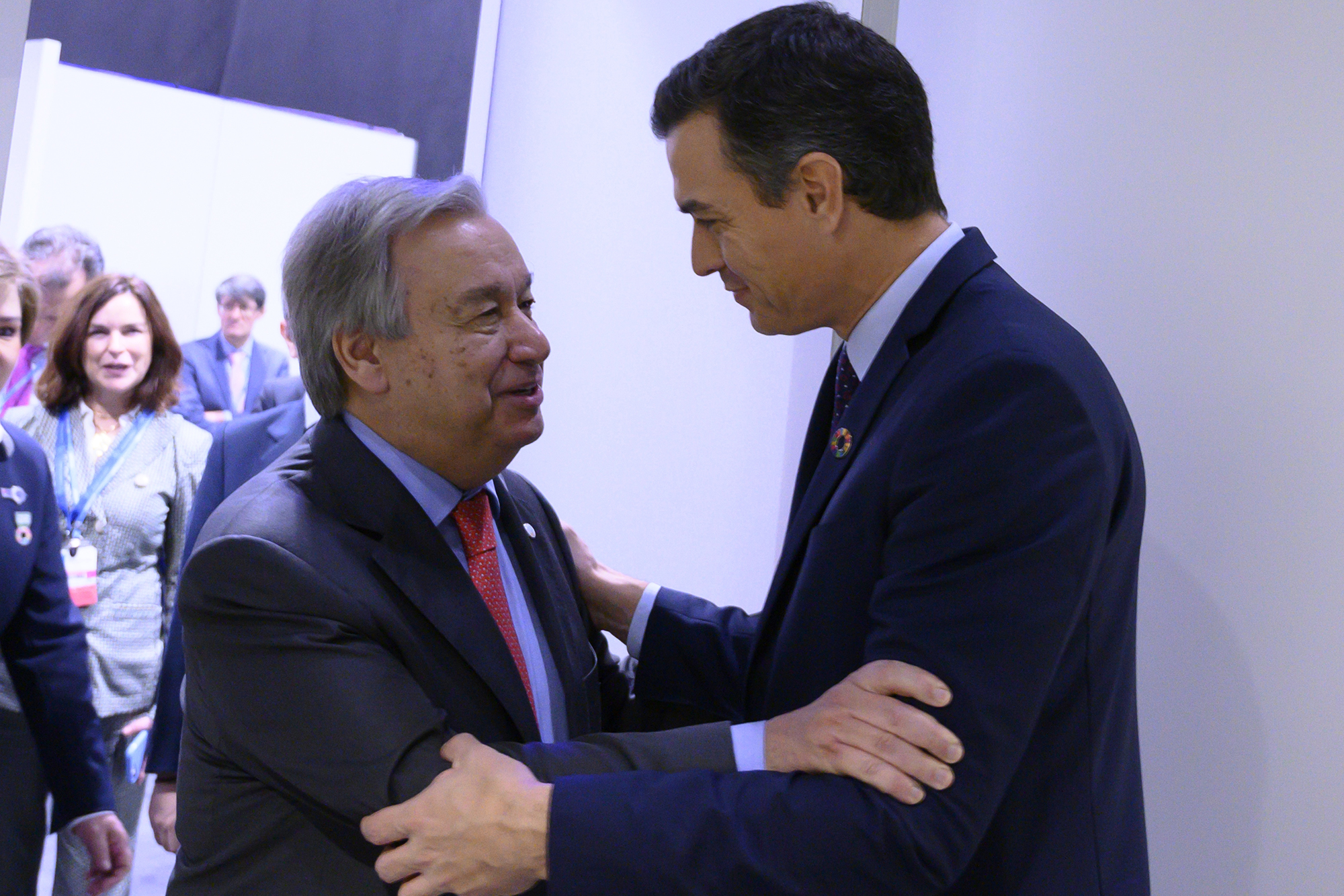 Antonio Guterrez y Pedro Sánchez (Foto: Moncloa/Borja Puig de la Bellacasa)