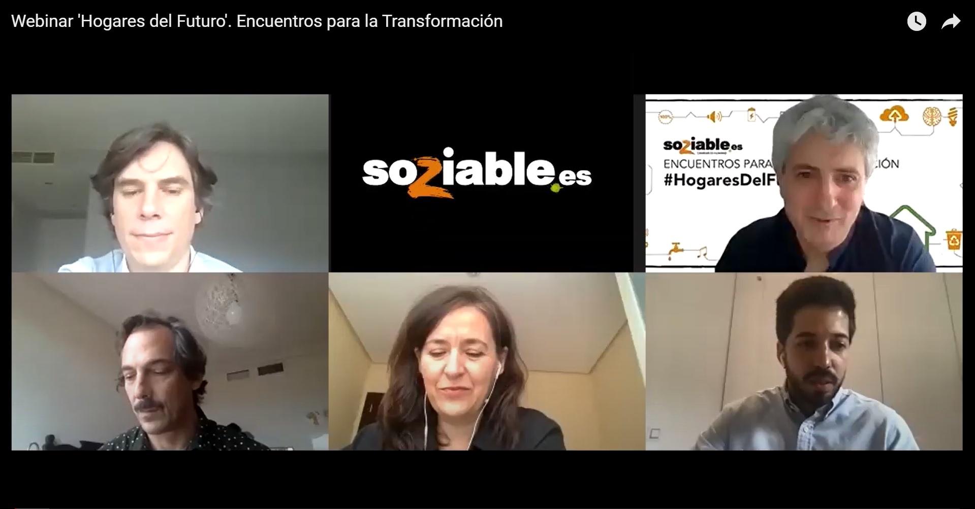 Imagen de los participantes en el webinar de Soziable.es 'Hogares del Futuro'.