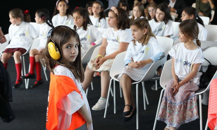 Un momento de un taller de Inspiring Girls en la sede del BBVA