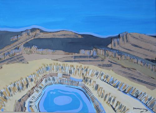 Obra de Mamen Caja que se puede observar en la exposición.