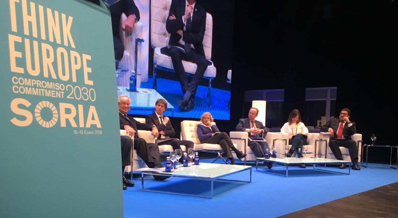 Manuela Carmena durante su intervención en Soria.