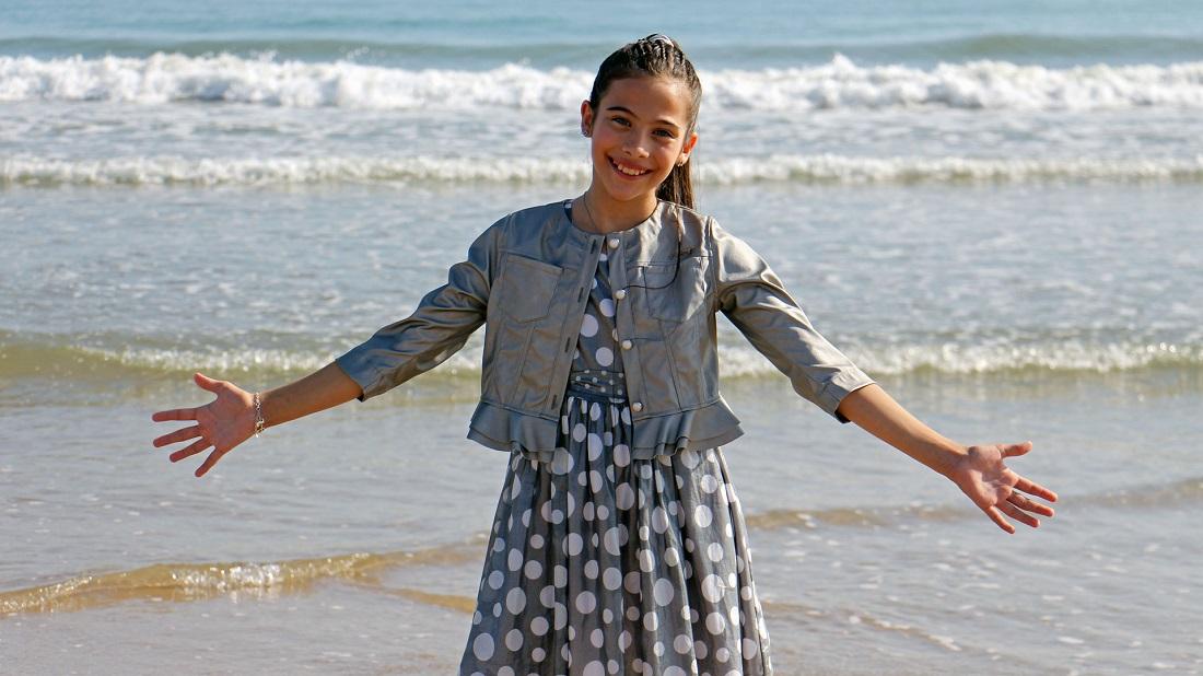 Melani, representante española en Eurovisión Junior, en el videoclip de 'Marte' (Foto: RTVE)