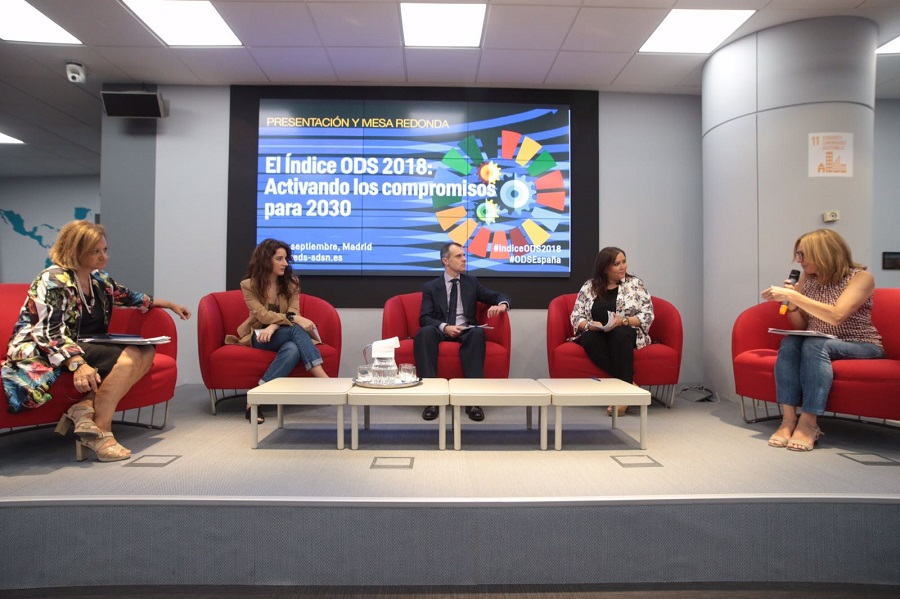 Cristina Gallach, Ana Belén Terrón, José Manuel Herrero y Ana Mª Carrillo. Foto: REDS