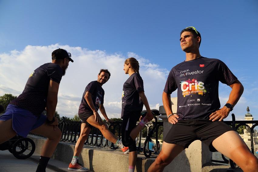 Deportista del equipo de MyInvestor durante un entrenamiento.