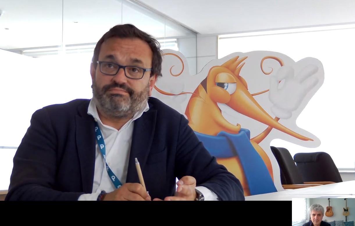 Ignacio González atiende a Soziable.es desde las oficinas centrales de Nueva Pescanova en Vigo.