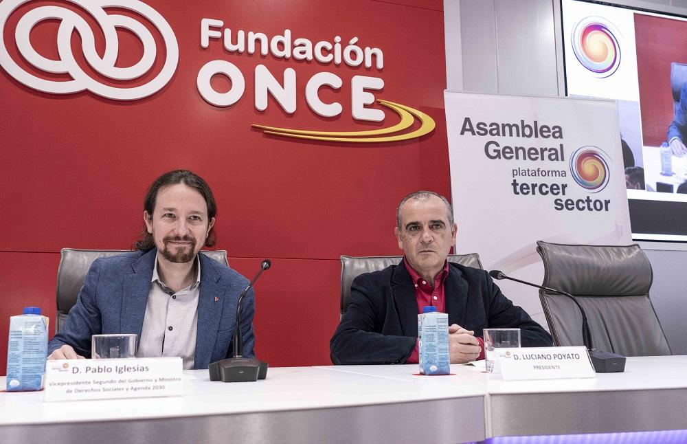 Pablo Iglesias y Luciano Poyato.
