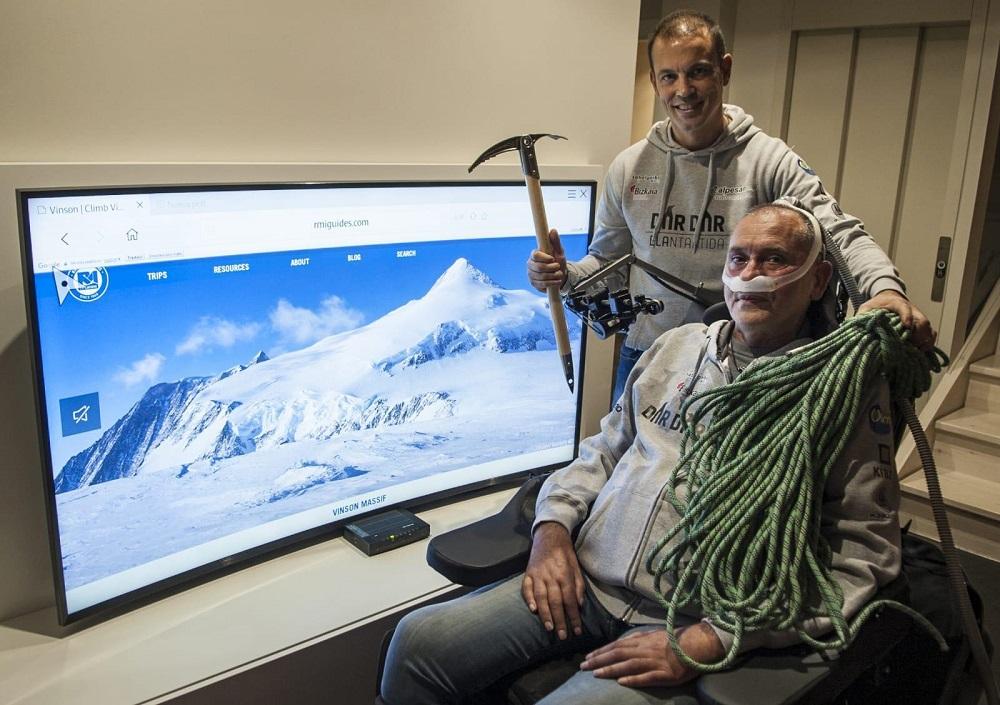 Pablo Olmos junto a Unai Llantada, los dos montañeros amigos que impulsan 'Dar Dar'.