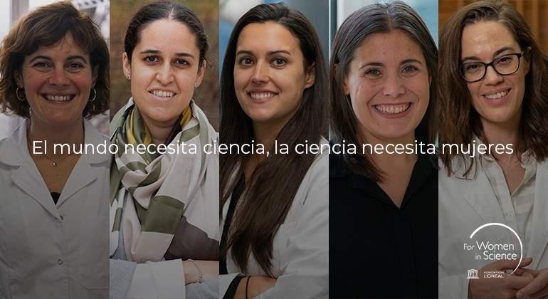 Las cinco españolas premiadas por el programa 'For Women In Science'.
