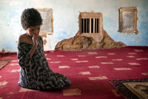 Una niña en uno de los centros especiales de educación.