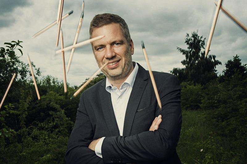 Michael Stausholm, fundador de la empresa de lápices plantables Sprout World.