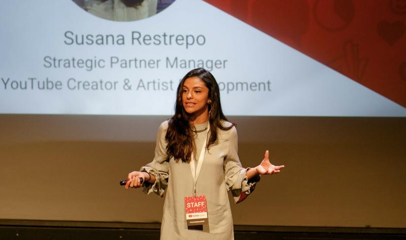 Susana Restrepo, gerente de alianzas con Youtubers de YouTube.