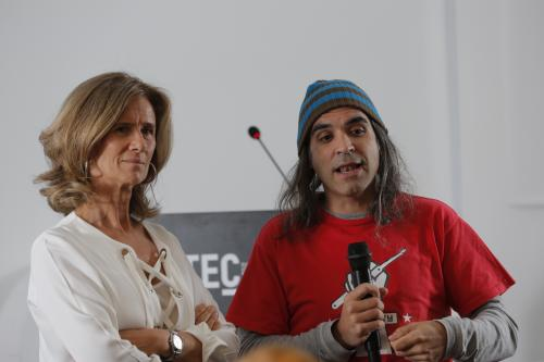 La presidenta de Cotec, Cristina Garmendia, y Chema Alonso, Chief Data Officer de Telefónica.