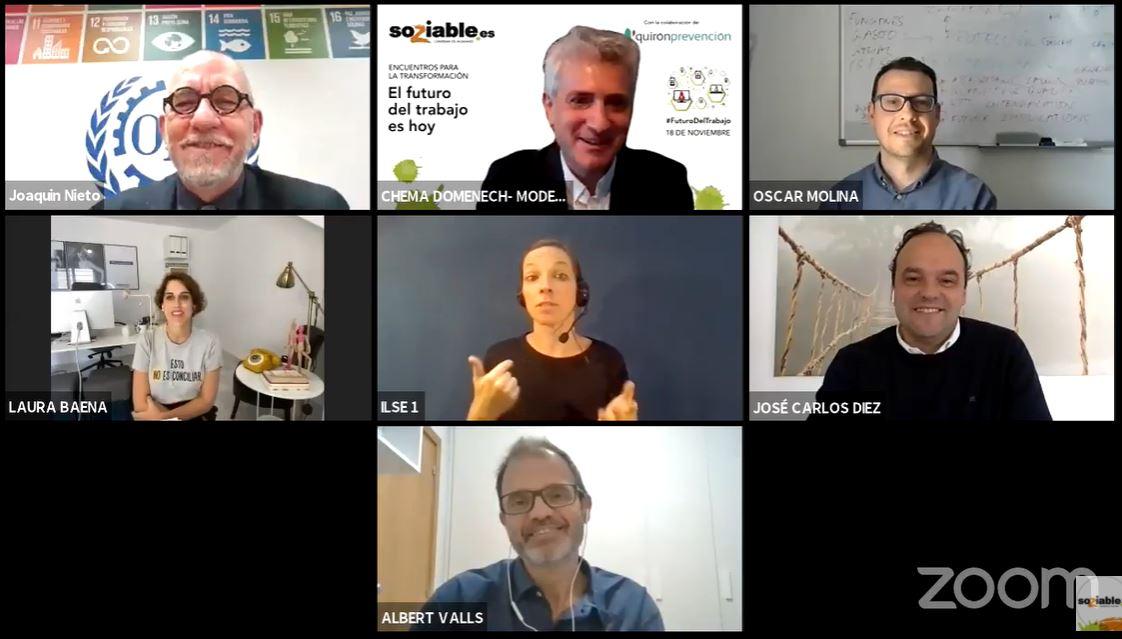 Participantes en el webinar 'El futuro del trabajo es hoy'.