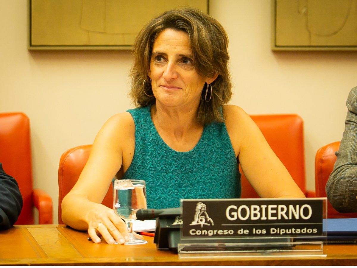 La ministra Teresa Ribera. Foto: Miteco.