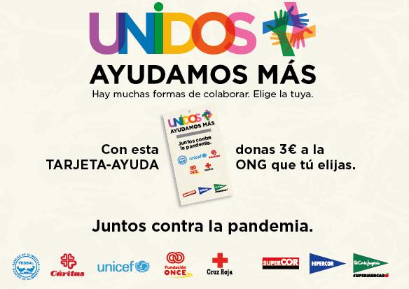 Las tarjetas solidarias tienen un importe de 3 euros.