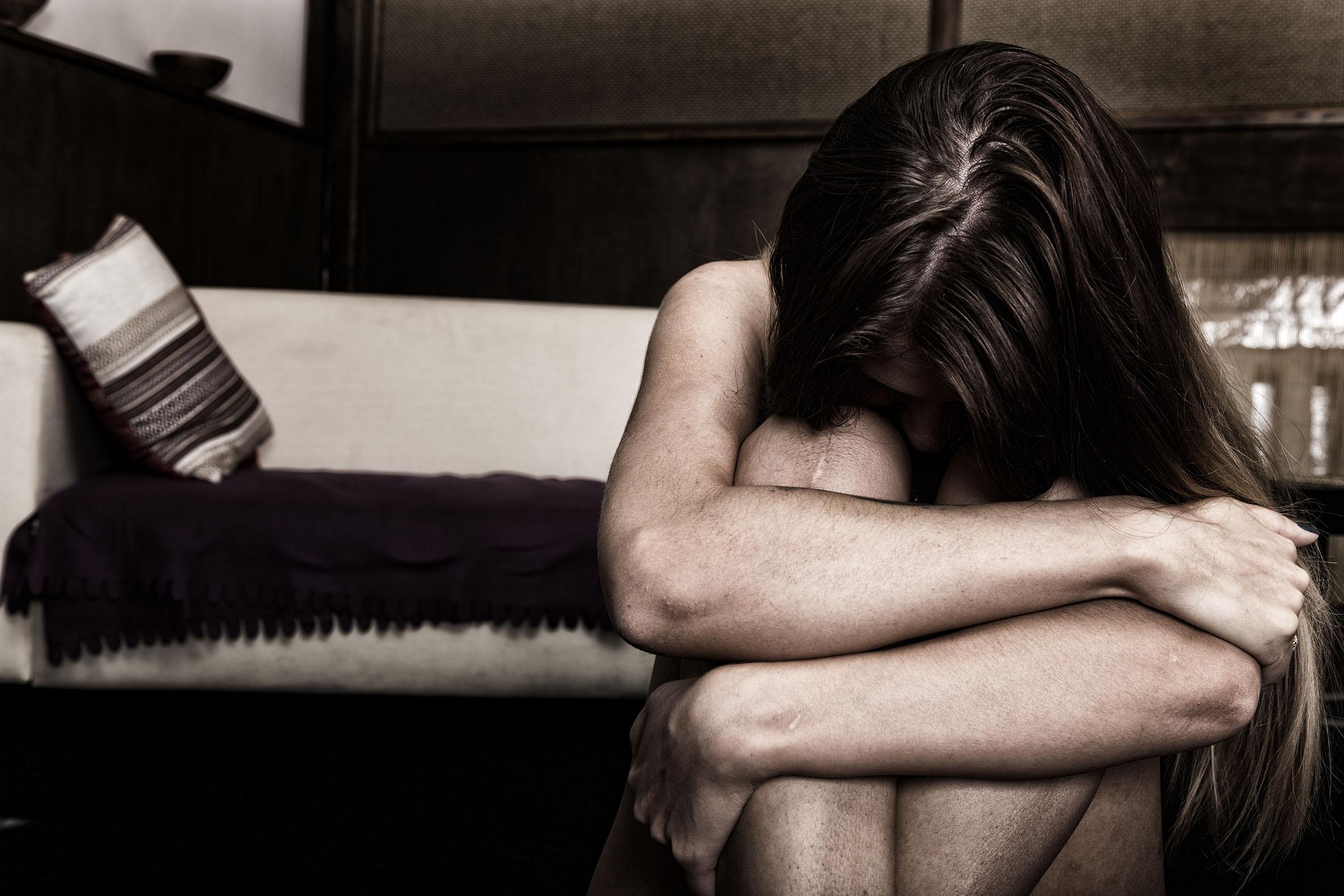 Mujer víctima de violencia.