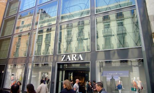 Imagen de una tienda Zara, cadena de Inditex.